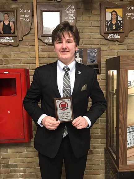 Yellow Springs High School sophomore Galen Sieck qualified Saturday, Sept. 2, for the Ohio Speech and Debate Association's state tournament March 1–2 in Canton.
