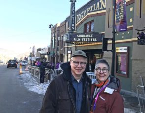"""Steve Bognar and Julia Reichart are shown in Park City, Utah, where they last week attended the prestigious Sundance Film Festival to show their documentary, """"American Factory."""" The filmmakers brought home one of the festival's top honors, the """"Directing Award: U.S. Documentary."""" (Submitted photo)"""