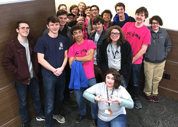 Members of the Yellow Springs Junior Council of World Affairs competed Monday, Feb. 4, in the annual QuizBowl hosted by the Dayton Council on World Affairs at the University of Dayton. The five Bulldog teams placed second, seventh, ninth, 11th and 14th among 39 teams from eight school districts that participated in the tournament.