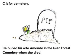 "C is for ""Cemetery""; from the book, ""Wheeling Gaunt's ABCs"""