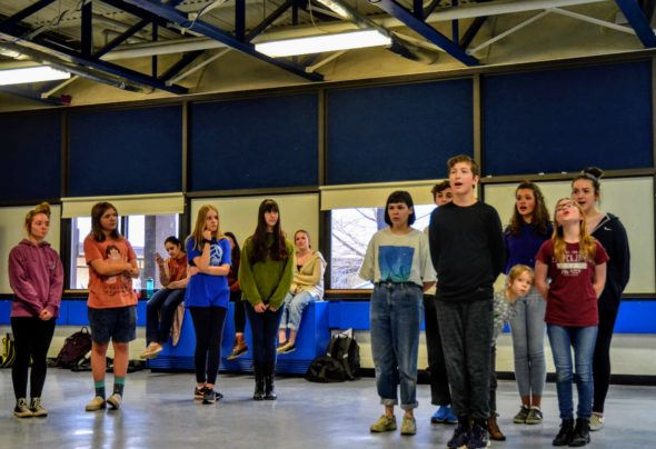 """So long, farewell..."" The Von Trapp children serenaded party guests at a recent rehearsal for ""The Sound of Music"" at YSHS. The community is invited to attend an open rehearsal and sing along with their favorite tunes from the show on Saturday, March 2."