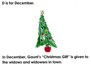 "D is for ""December""; from the book, ""Wheeling Gaunt's ABCs"""