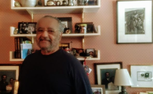 Dr. John E. Fleming in his office at home on Corry Street. Fleming is currently working on establishing the National Museum of African American Music in Nashville, Tenn., which is set to open next year. The museum will be the last major project for Fleming before he retires.