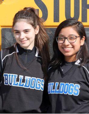 Bulldog softball team  Lily Bryan and Sara Zendlovitz (Photo by Coach Jimmy DeLong)