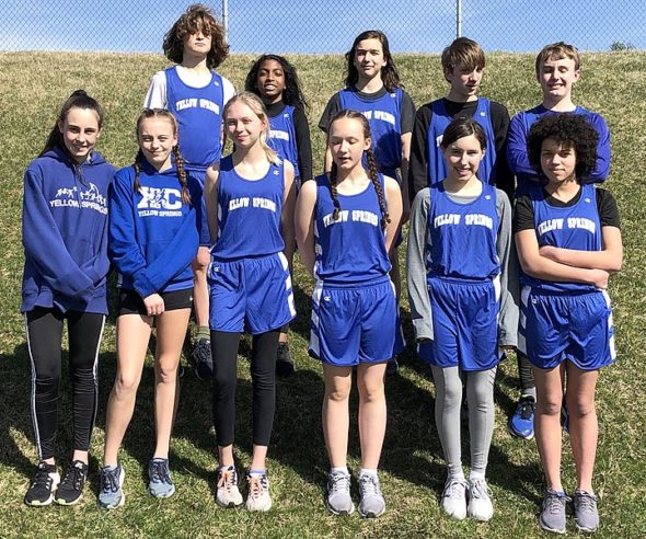The 2019 McKinney track team, which held its annual championship last week. Front row, from left: Cheyan Sundell-Turner, Josie DeWine, Siobhan McCann-Stewart, Lilly Hagstrom, Angelina Tatman and Isabella Blackwell; back row: Samuel Trelawny-Cassity, Malik Booth, Kyle Raymer, Jack Horvath and Kael Cooney. Not pictured is Sven Meister. (Submitted photo)