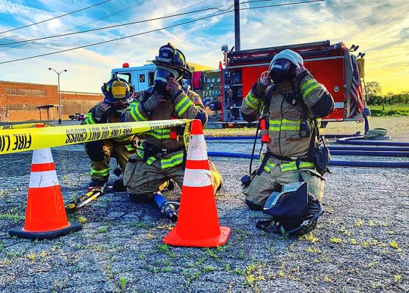 Casey Brewer, who first came to Miami Township Fire-Rescue in 2013 as a member of the Explorer Post for teens, took this photo at a recent training event and shared it on the MTFR Facebook page. Brewer, 19, recently received EMT certification, Chief Colin Altman reported at the Miami Township Trustees' most recent meeting Monday, July 1. (Submitted photo by Casey Brewer)