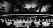 "Still from Dr. Strangelove, ""in the war room."" (Photo courtesy of wikimedia commons)"