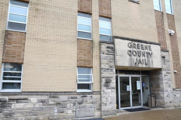 The Greene County Jail on East Market Street in downtown Xenia was built in 1969. County leaders say the aging facility needs to be replaced with an updated and expanded facility. (Photo by Megan Bachman)