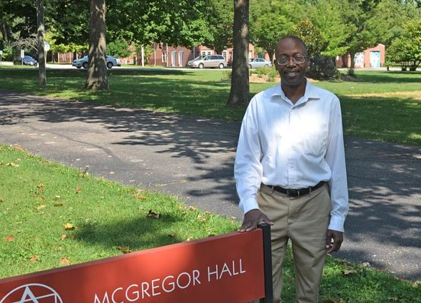 Associate Professor of History Kevin McGruder steps into the role of vice president of academic affairs at Antioch Collage later this month, replacing Lori Collins-Hall in that position. A tenured faculty member, McGruder was hired by the college in 2012. (Photo by Audrey Hackett)