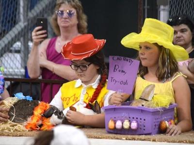 Scenes from the Greene County Fair — Rabbit costume contest