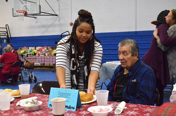 Yellow Springs High School students hosted the 39th annual Senior Citizens Luncheon on Thursday, Dec. 5. (photo by Carol Simmons)