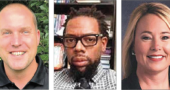 Under consideration for YSHS/McKinney Middle School principal, from left, are Jack Hatert, the current interim principal; Ejovwokoghene Odje, assistant principal at Thurgood Marshall STEM High School in Dayton; and Julie Taylor, the curriculum supervisor for Beavercreek City Schools. (Submitted Photos)