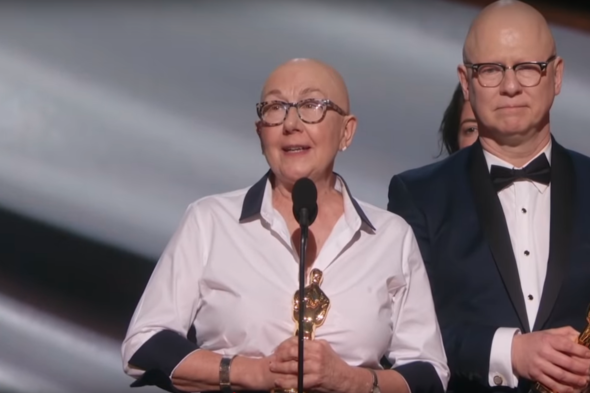 "Julia Reichert and Steve Bognar accepted the Oscar for Best Documentary Feature for their film, ""American Factory,"" on Feb. 9 at the 92nd Academy Awards."