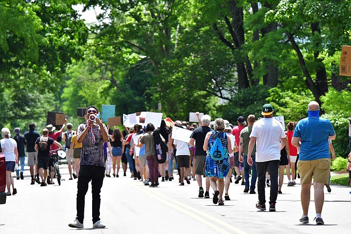 Marching for Black Lives in Yellow Springs