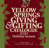 The cover to the new 2020 Yellow Springs Giving & Giving Catalogue. Scroll up and click to view it online, or pick it up at the many establishments around town.
