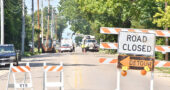 Dayton-Yellow Springs Road was closed to traffic July 26 for a water leak remediation. (Photo by Matt Minde)