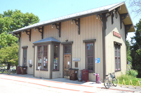 The Yellow Springs Train Station is also the location of the YS Chamber of Commerce offices. The Chamber's board of directors reversed their position on the hiring of a new director Elizabeth Ford, following backlash from Chamber members and villagers after posts on her personal Facebook page surfaced. (Photo by Matt Minde)